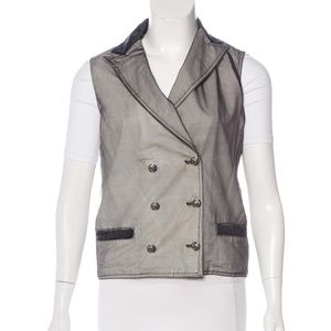 Chanel Vest with CC buttons